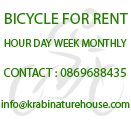 Bicycle for Rent in Aonang Krabi Thailand